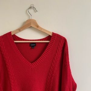 🌿Torrid Red Knit Sweater Size 1